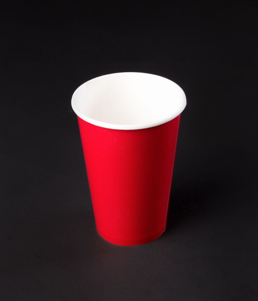 Vaso 12oz Colors Polipapel Rojo