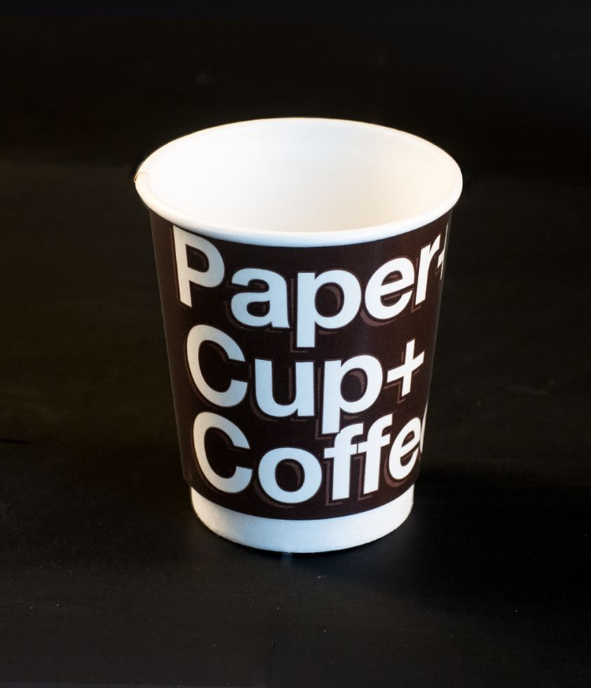 Vaso Paper+Cup+Coffe+ 8oz Bebida caliente Doble Pared