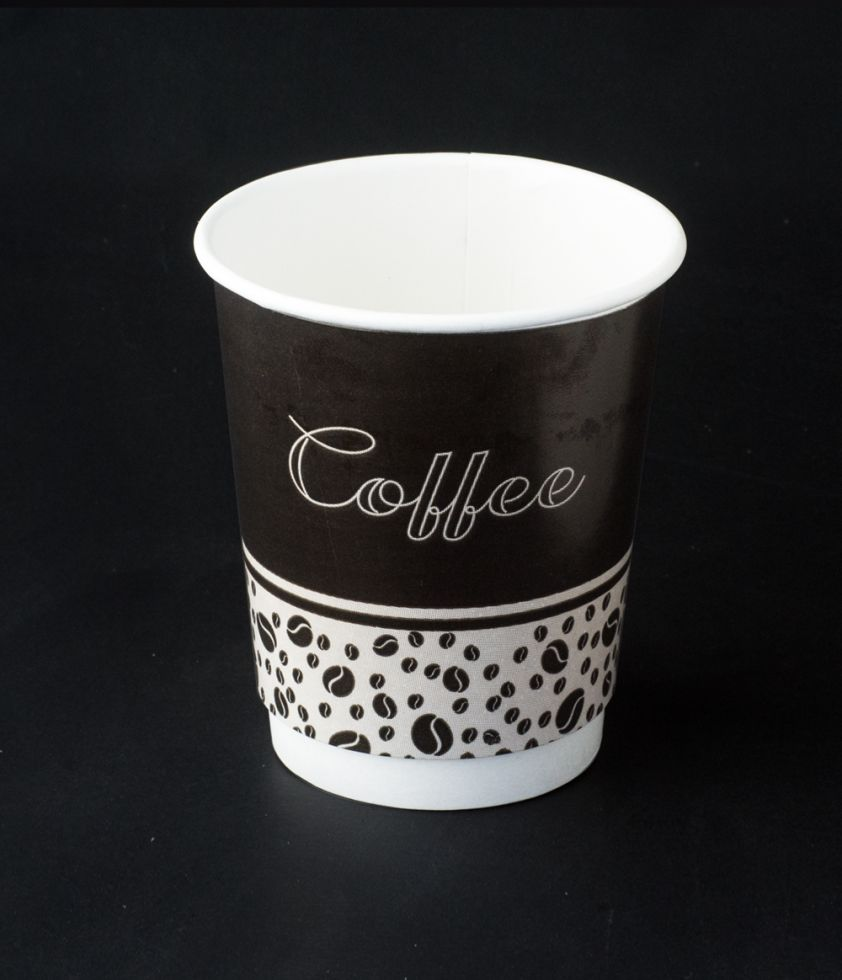 Vaso Café Negro 8oz Bebida caliente Doble Pared